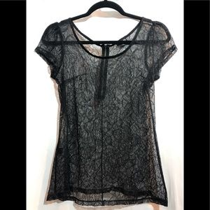 Express medium sexy sheer top